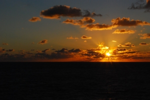 sunset photo over the ocean